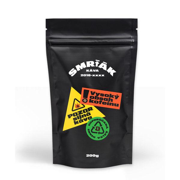 """Levně Káva Smrťák (Směs robusta) - """"EXTRA SILNÁ A CHUTNÁ"""" 500 g MLETÁ: Mletí na espresso a zalévání (jemné)"""