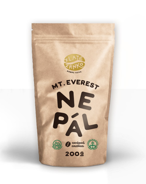 "Káva Zlaté Zrnko - Nepál ""Mount Everest"""