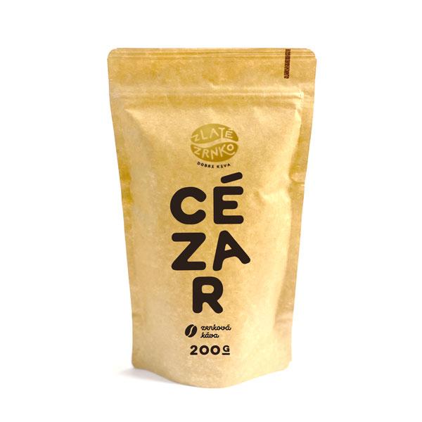 """Levně Káva Zlaté Zrnko - Cézar (Směs 75% arabica a 25% robusta) - """"KLASICKÝ"""" 1 kg ZRNKOVÁ"""