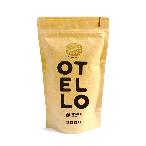 """Levně Káva Zlaté Zrnko - Otello (Směs 65% arabica a 35% robusta) - """"HOŘKÝ"""" 1 kg MLETÁ: Mletí na moku, filtr, aeropress, frenchpress (hrubé)"""