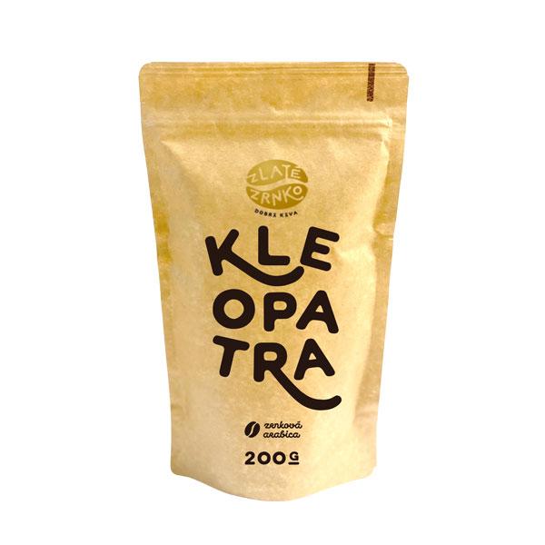 """Levně Káva Zlaté Zrnko - Kleopatra (Směs 100% arabica) - """"EXKLUZIVNÍ"""" 200 g MLETÁ: Mletí na moku, filtr, aeropress, frenchpress (hrubé)"""