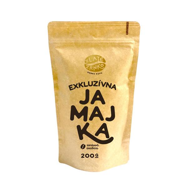 """Levně Káva Zlaté Zrnko – Jamaica Blue Mountain – Jamajka """"EXKLUZIVNÍ"""" 200 g MLETÁ: Mletí na espresso a zalévání (jemné)"""